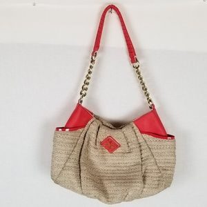 Simply Vera Vera Wang Beige Red Handbag Shoulder